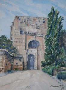 Puerta de la Justicia (Alhambra) 26,5x28 cm 2014