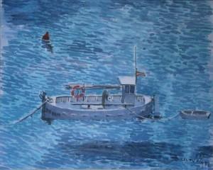 Barca de pesca 19,5x15,5 cm 1999 copia