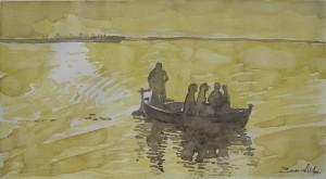 Paseo en barca 33 x18 cm 2000