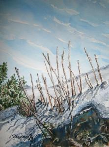 Título: Pequeño invierno. Acuarela sobre papel SAUNDERS. 26 x 36,5 cm. Año 2015. (disponible). Autor: Paco Baena.