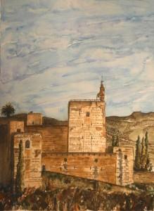 Torre de la Vela 29 x 39 cm. 2014