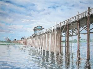 Un largo puente 35,5x26 cm 2014